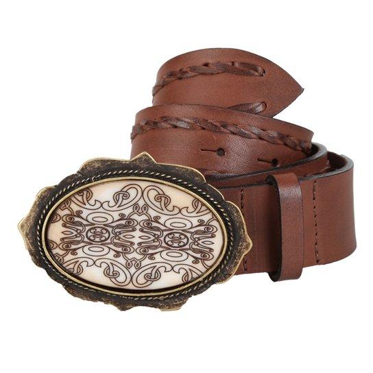 Cinto Couro Shoestock Laçadas Feminino - Marrom - Compre Agora  59507045fe1