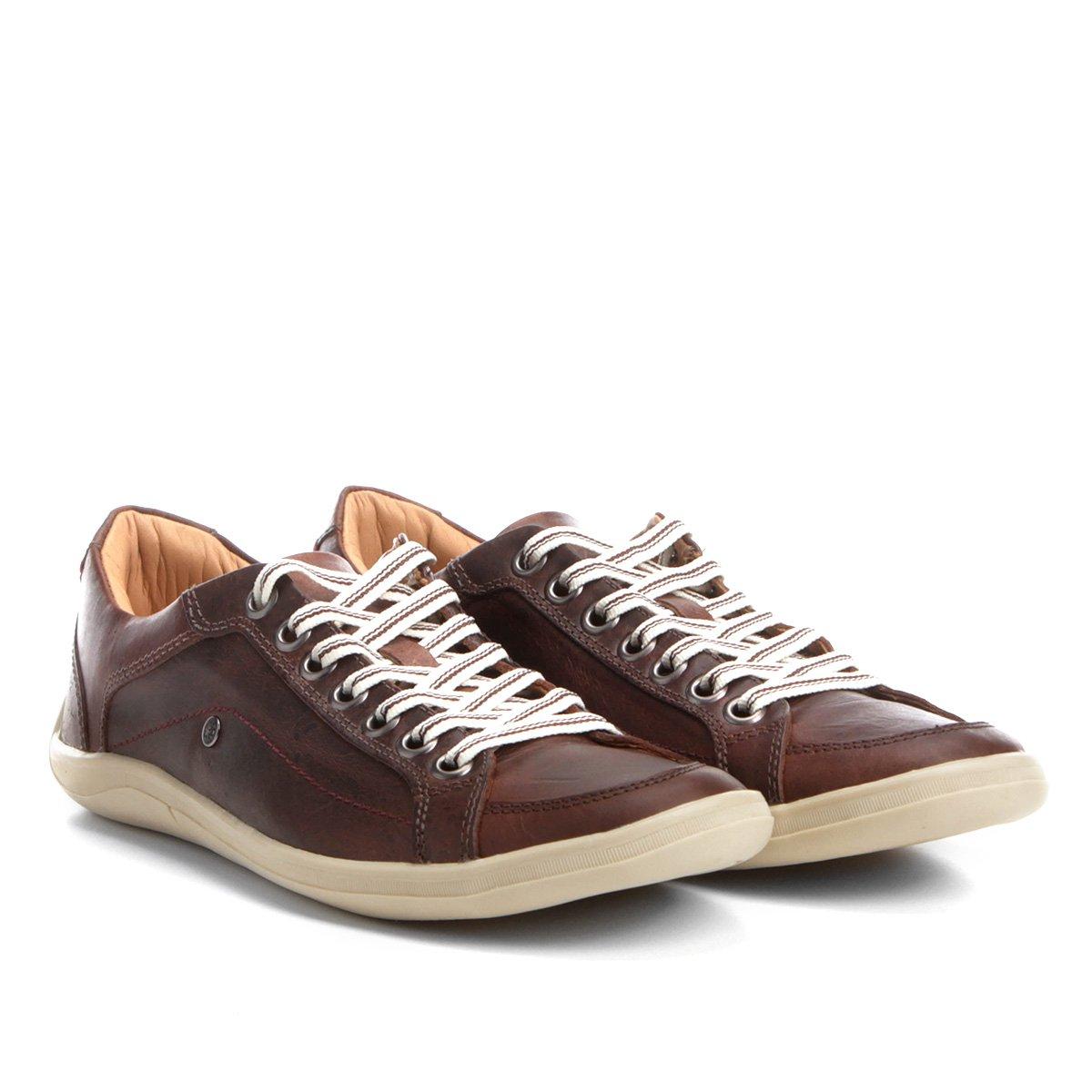 20d2a8cff9 Sapatênis Couro Shoestock Lixado Masculino