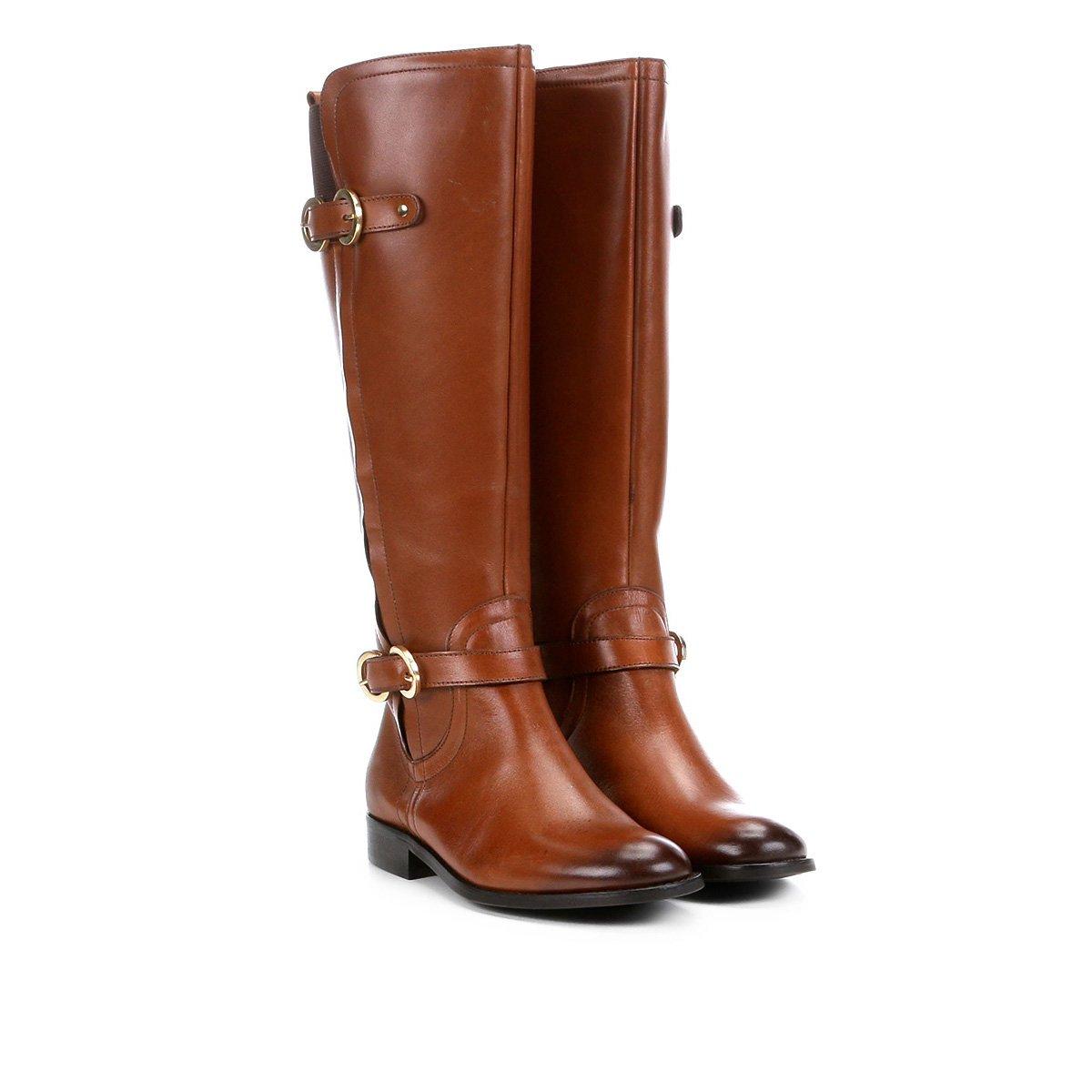ac4b12eeb Bota Montaria Shoestock Fivelas Feminina