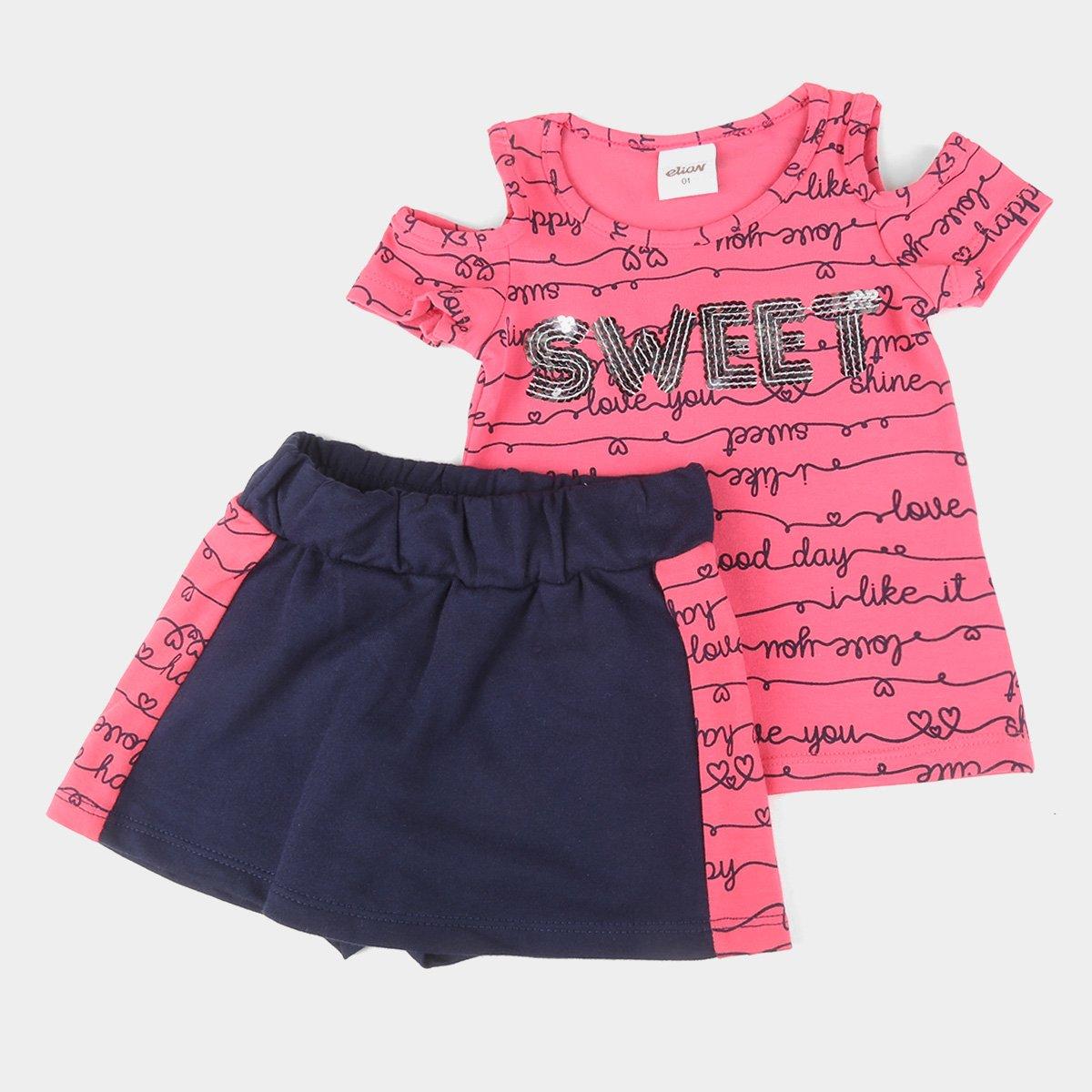 Conjunto Infantil Elian Estampada Feminina