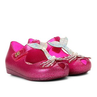 82ccb722c34 Sandália Infantil World Colors Glitter Aplique Sereia Feminina