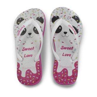 3c92292a8c Chinelo Infantil Pampili Sweet Love Panda Feminino
