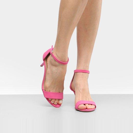 800ba2ac08c64 Sandália Drezzup Salto Fino Camurça Feminina - Pink - Compre Agora ...