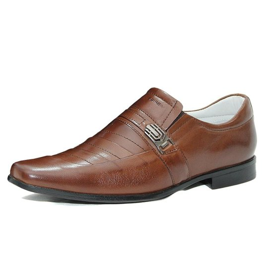 30d99a1851 Sapato Social Mafisa Detalhe Metal Masculino - Marrom - Compre Agora ...
