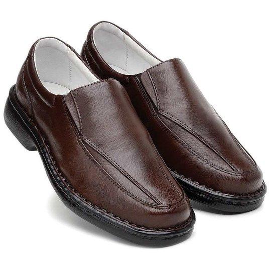 f740d4008c Sapato Masculino Confort Pele Carneiro Palmilha Massageadora Ranster -  Marrom