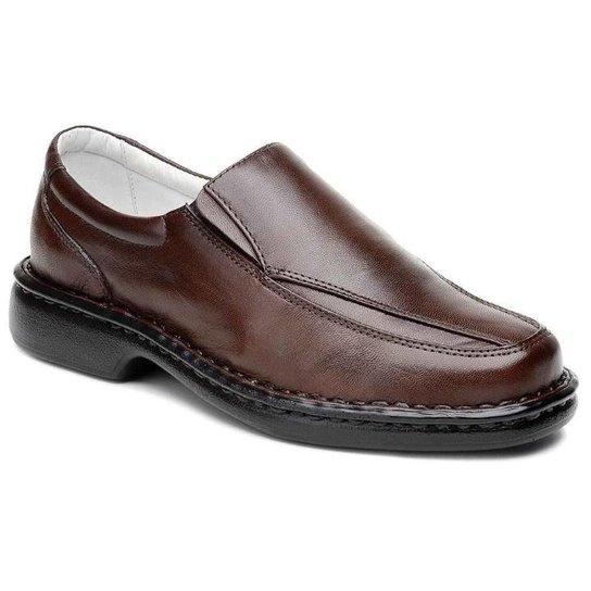 1d51fd706 Sapato Masculino Confort Pele Carneiro Palmilha Massageadora Ranster -  Marrom