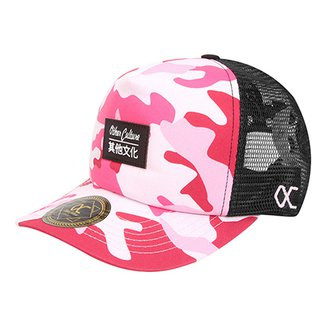Boné Other Culture Aba Curva Pink Camo 40d10dc9a81