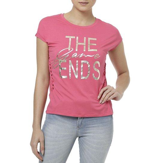 e6b049e22 Blusa Manga Curta Feminina Rosa pink - Compre Agora