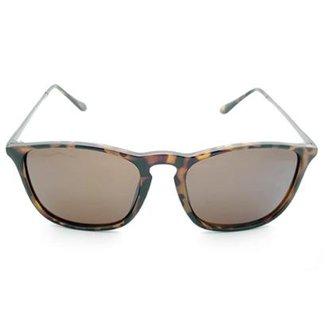 bbf35cd50b870 Óculos de Sol Gio Antonelli Tartaruga Fosco Lente Marrom Comum Feminino