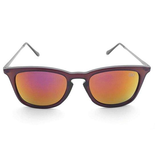 c0d9fe11e5f7f Óculos de Sol Gio Antonelli Fosco Lente Laranja Espelhada Feminino - Marrom