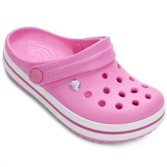 fe4b14d274e5c Sandália Crocs Infantil Crocband - Pink e Branco - Compre Agora ...
