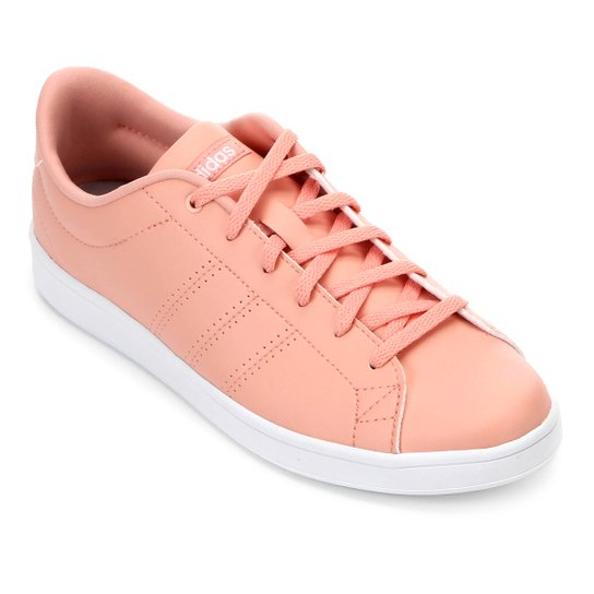 da06b038311 Tênis Adidas Advantage Clean Qt Feminino - Pink e Branco - Compre ...