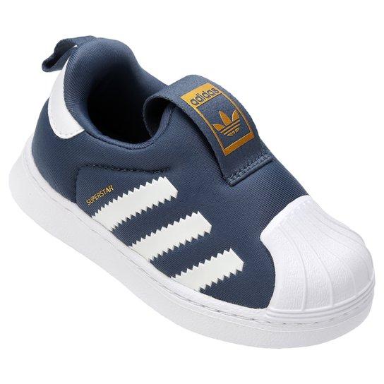 Tênis Infantil Adidas Superstar 360 - Azul Petróleo e Branco ... 42ab5bbf573b4