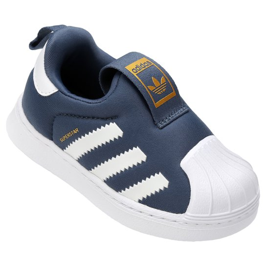 cc1609d13fb3a Tênis Infantil Adidas Superstar 360 - Azul Petróleo e Branco ...