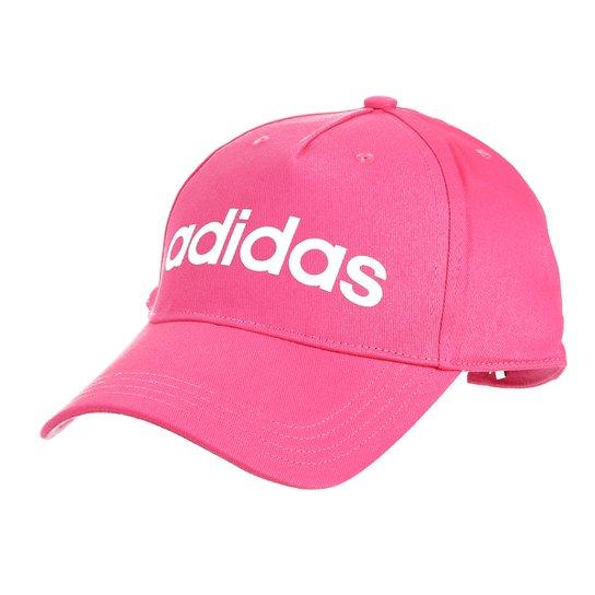 Boné Adidas Aba Curva Daily Masculino - Pink e Branco - Compre Agora ... 9cec98ce466