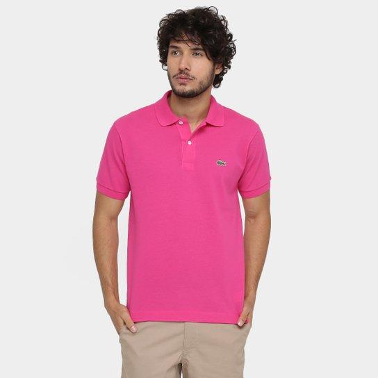 75977125ef751 Camisa Polo Lacoste Original Fit Masculina - Pink - Compre Agora ...