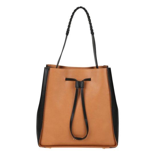 Bolsa Colcci Shopper Amarração Feminina - Caramelo+Preto c20197f0a84