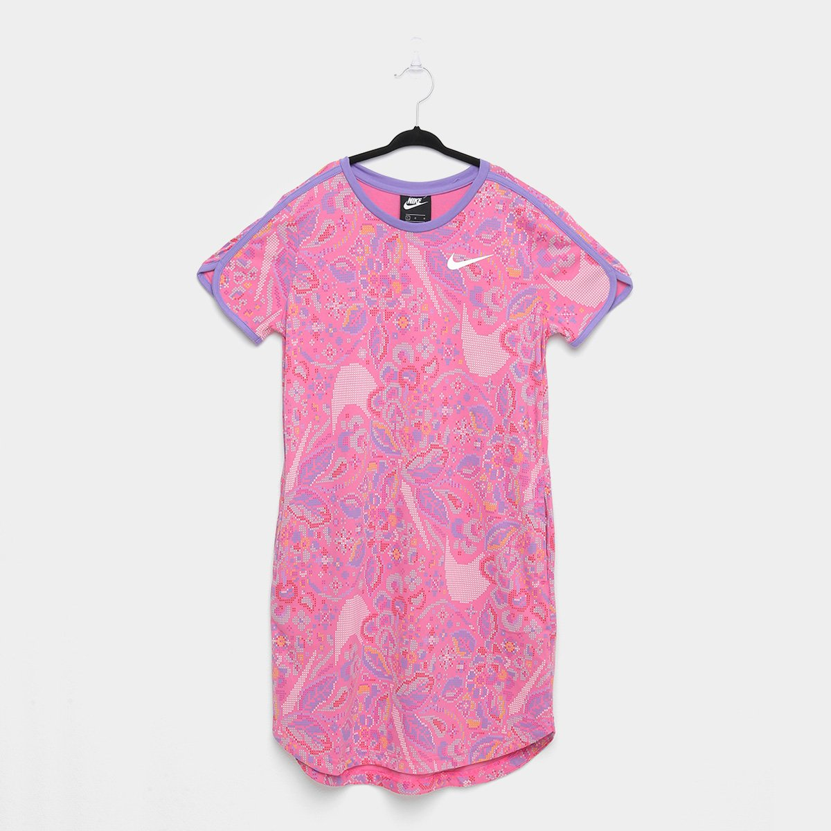 Vestido Camiseta Nike Swoosh Dress Manga Curta