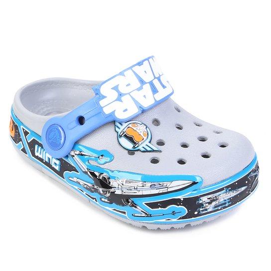 87892b63a5545 Sandália Infantil Crocs Lights Star Wars - Cinza e Azul - Compre ...