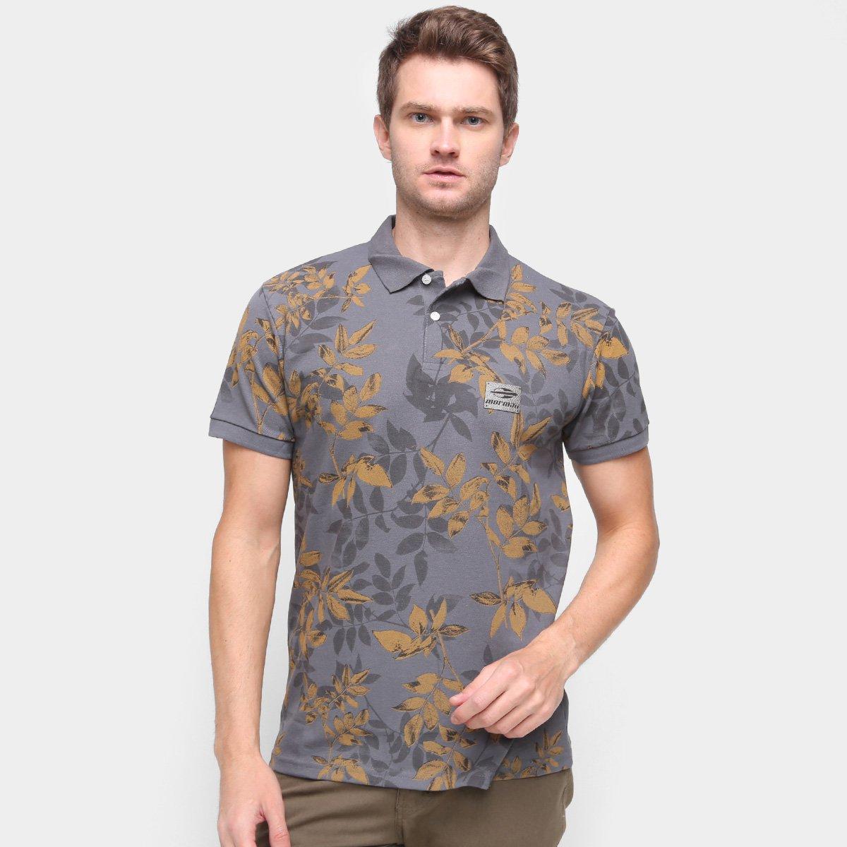 Camisa Polo Mormaii Plaq Full Print Masculina