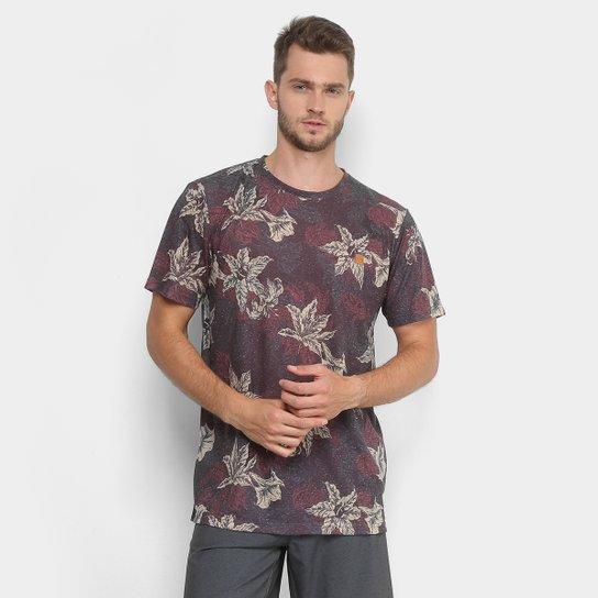 Camiseta Lost Floral Masculina - Vermelho - Compre Agora  e79c545bc7b29