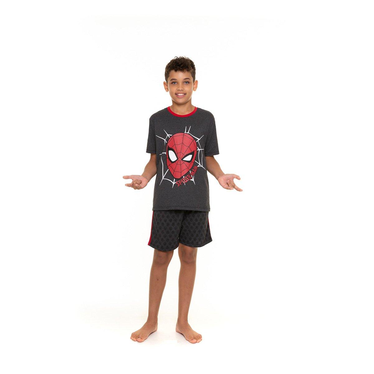 Pijama Juvenil Evanilda Marvel Homem-Aranha Masculino