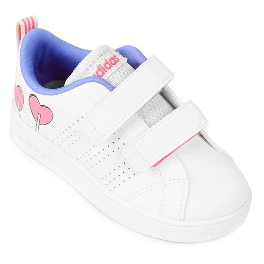 d5a93f0201 Tênis Infantil Adidas Vs Advantage Clean - Branco e Lilás - Compre ...
