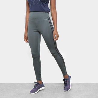 b7a7fb272 Calça Legging Adidas Design 2 Move 3 Stripes Feminina