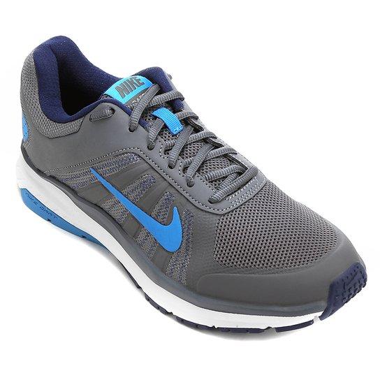 de50fb365 Tênis Nike Dart 12 MSL Masculino - Cinza e Azul - Compre Agora