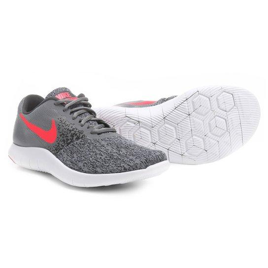 f2089b9c06 Tênis Nike Flex Contact Feminino - Cinza e Pink - Compre Agora