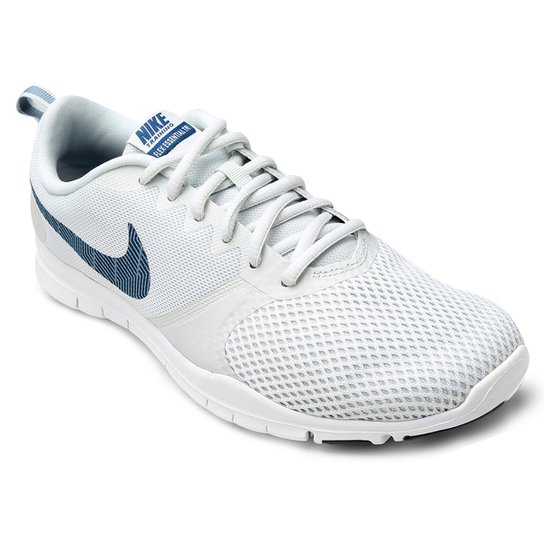 bf174ad58b298 Tênis Nike Flex Essential TR Feminino - Cinza e Azul - Compre Agora ...