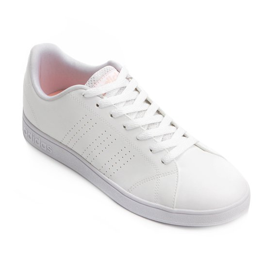 bded4260362 Tênis Adidas Vs Advantage Clean Feminino - Branco e Areia - Compre ...