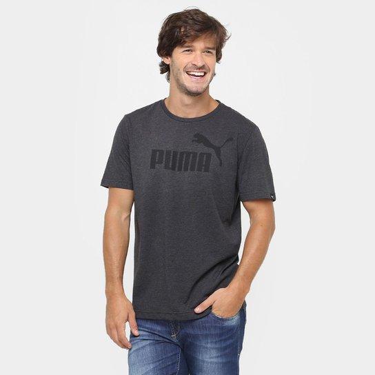 463e9b4eef Camiseta Puma Ess No.1 Heather Tee Masculina - Chumbo - Compre Agora ...