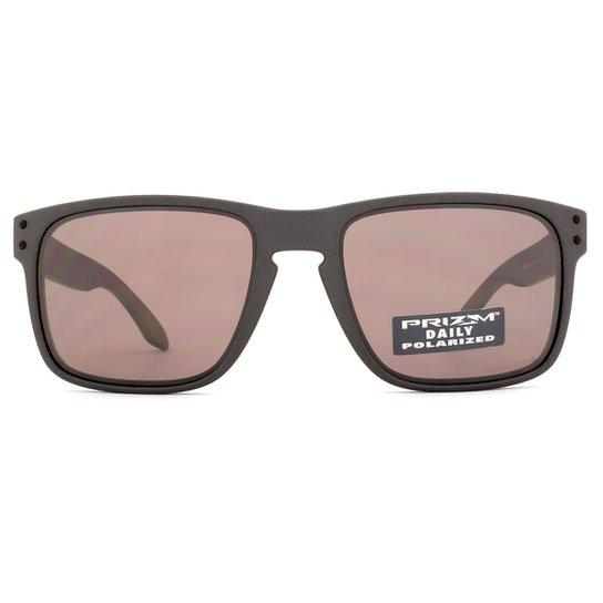 Óculos de Sol Oakley Holbrook Polarizado OO9102 B5-55 Masculino - Chumbo 2ee499171a