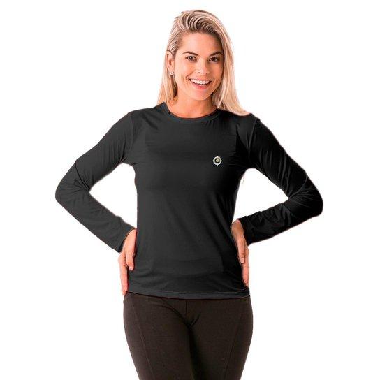 36c66ba3acc51 Camisa Térmica para Frio Manga Longa com Proteção Solar Extreme UV - Chumbo