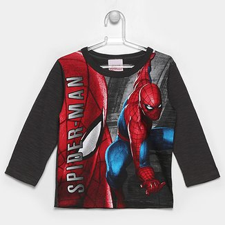 7b2912a6197 Camiseta Brandili Marvel Spider Man Infantil