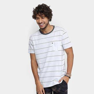 d1602e5bb Camiseta Foxton Listrada Bolso Tempo Masculina