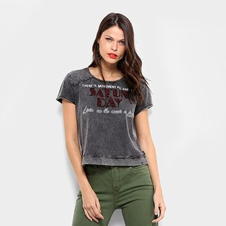 0fb513c96 Malha Dimy Top Cropped Silk Recorte Feminina · Confira · Camiseta Dimy com  Brilho Feminina