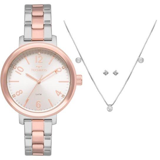 5fd370b66b874 Relógio Technos Feminino Trend Bicolor - 2035MMV K4K 2035MMV K4K - Bronze+ Prata