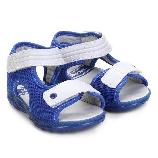 c94275c49c5 Sandália Papete Infantil Pimpolho Masculina - Cinza e Azul - Compre ...