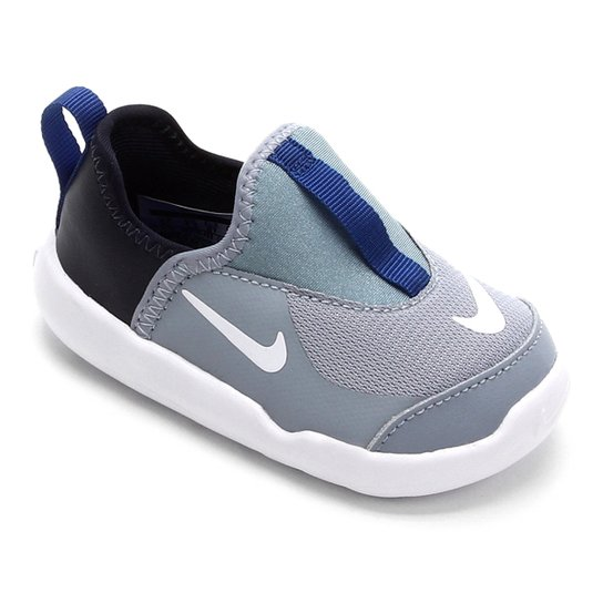 3f3cb4c7fdad0 Tênis Infantil Nike Lil' Swoosh Masculino - Cinza e Azul | Zattini
