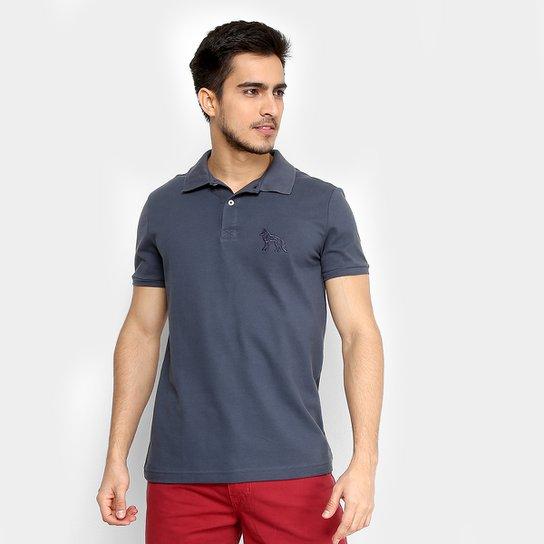ce3c4d2b2695f Camisa Polo Acostamento Bordado Masculina - Chumbo - Compre Agora ...