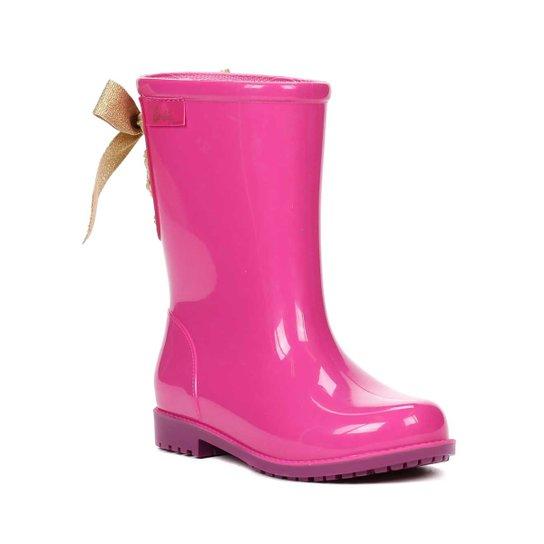 c7d30f3d32d Bota Infantil Para Menina Barbie Galocha Power Fashion Rosa roxo - Pink+Roxo