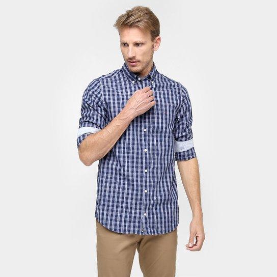 fa172a042ac Camisa Tommy Hilfiger Regular Fit Xadrez Manga Longa - Compre Agora ...