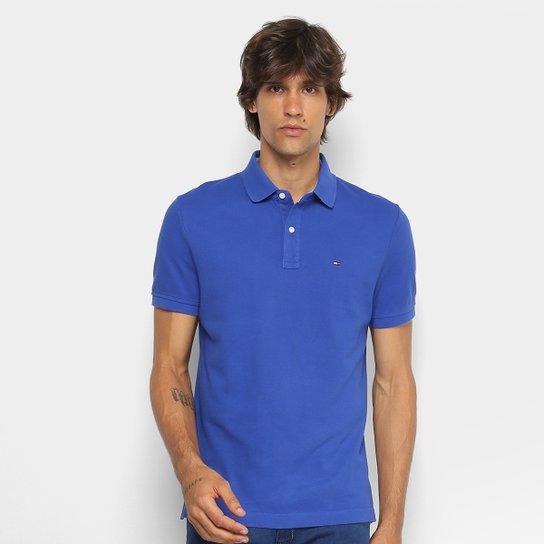 351e4b30ada5a Camisa Polo Tommy Hilfiger Básica Masculina - Azul Royal - Compre ...
