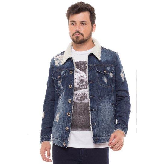 Jaqueta Jeans Manga Longa Denúncia - Compre Agora  624e65835ba