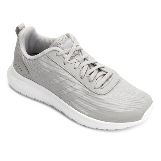 123680a2c1 Tênis Adidas CF Element Race Feminino - Cinza e Prata - Compre Agora ...