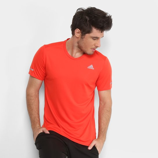 Camiseta Adidas Run Masculina - Laranja - Compre Agora  1f0b3984b3a64