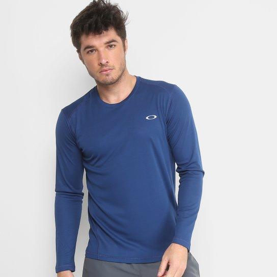Camiseta Oakley Daily Sport 2.0 Manga Longa Masculina - Azul Escuro ... a0649e171fb