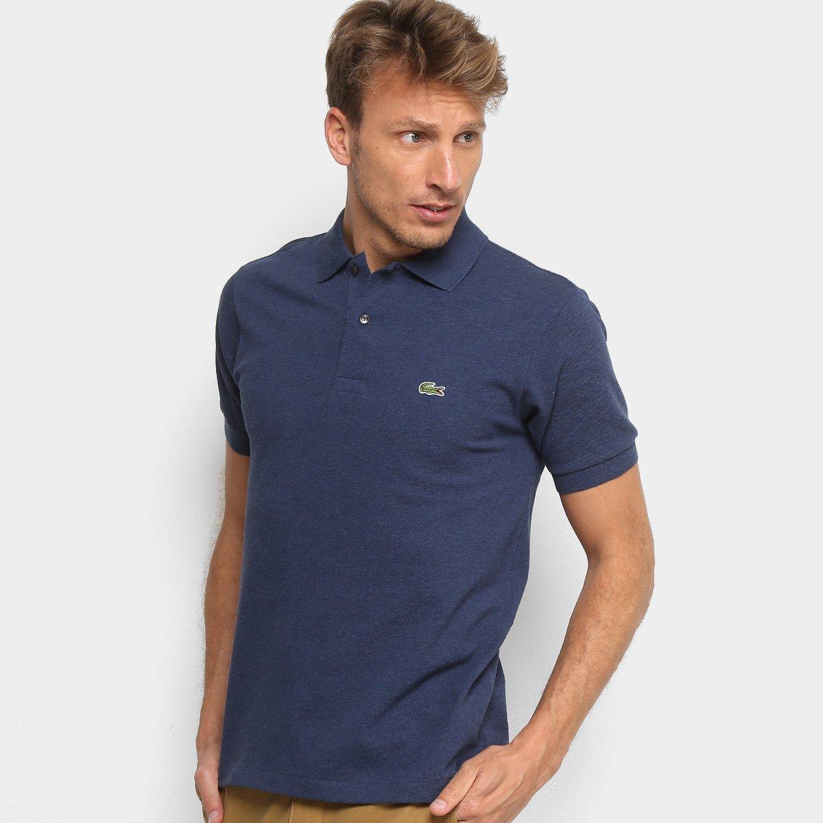 Camisa Polo Lacoste Mescla Masculina   Livelo -Sua Vida com Mais ... de455f7f60